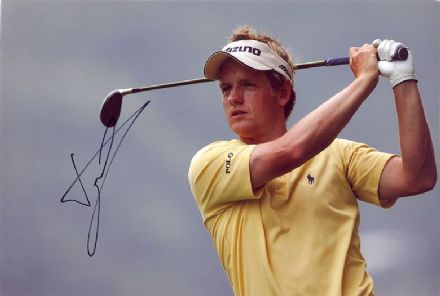 Luke Donald, signed 12x8 inch photo.